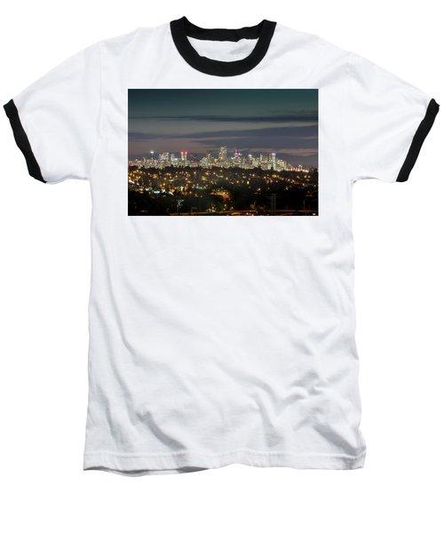 Downtown Dusk Baseball T-Shirt