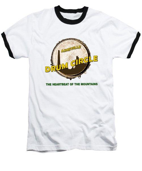 Drum Circle Logo Baseball T-Shirt