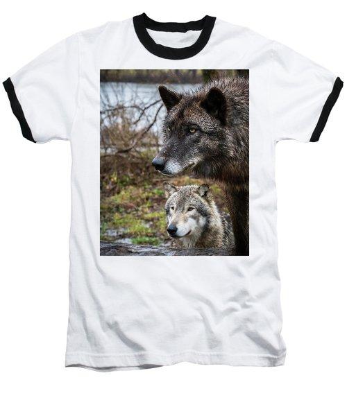 Dual Wolves Baseball T-Shirt
