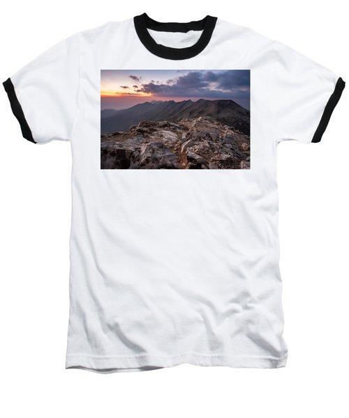 Dusk At Peak Vihren  Baseball T-Shirt