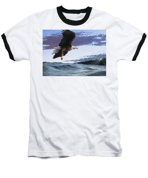 Eagle In Flight Baseball T-Shirt