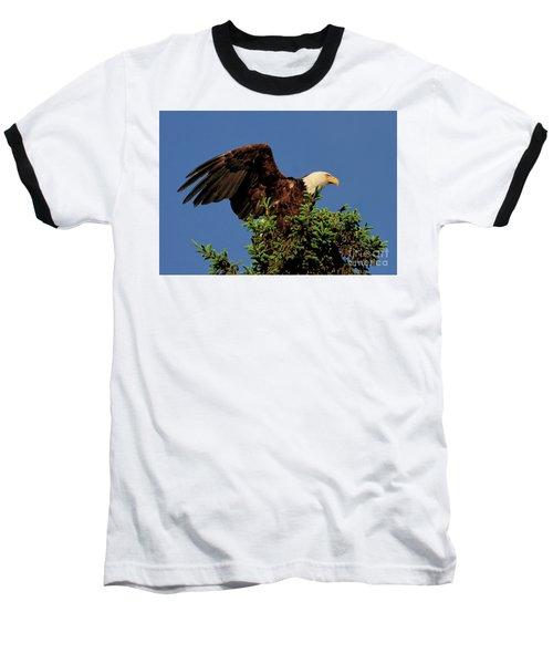 Eagle In Treetop Baseball T-Shirt