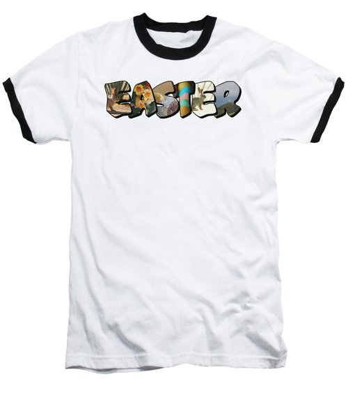 Easter Big Letter Baseball T-Shirt