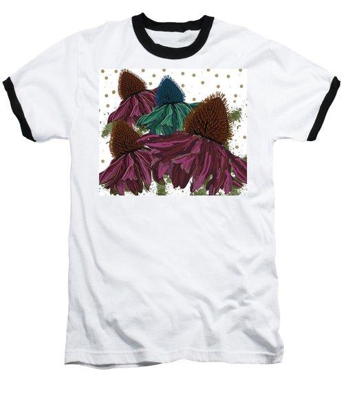 Echinacea Flower Skirts Baseball T-Shirt