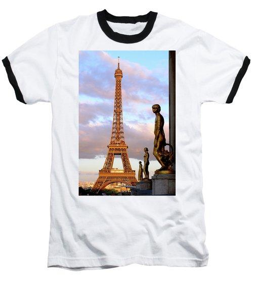 Eiffel Tower At Sunset Baseball T-Shirt