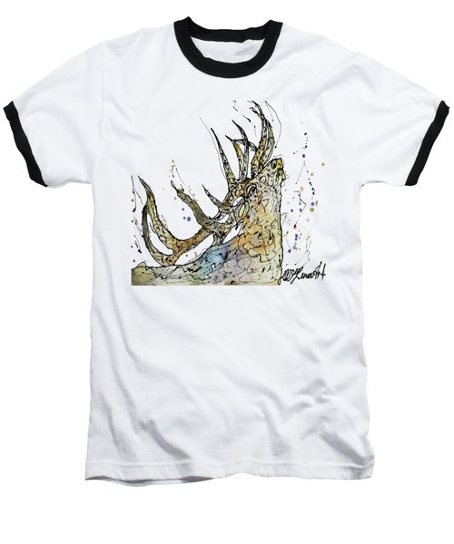 Elk Art Print By Olena Art Baseball T-Shirt