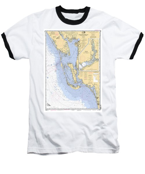 Estero Bay To Lemon Bay, Noaa Chart 11426 Baseball T-Shirt