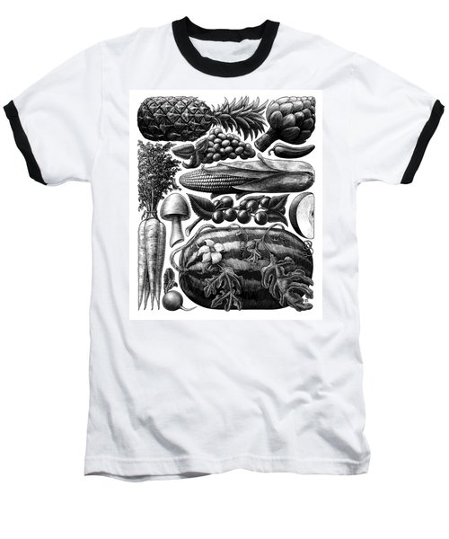 Farmer's Market - Bw Baseball T-Shirt
