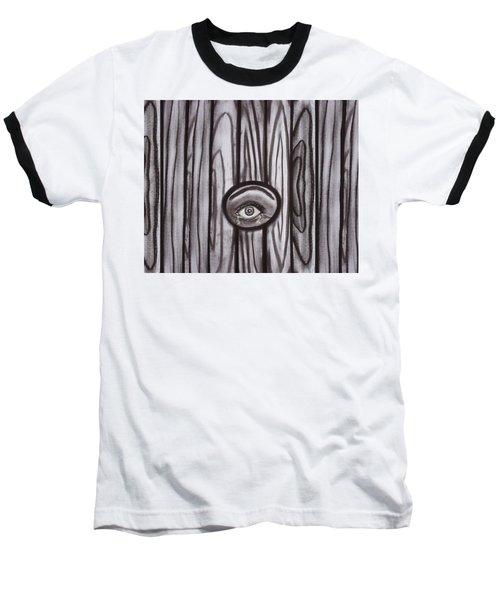 Fear - Eye Through Fence Baseball T-Shirt