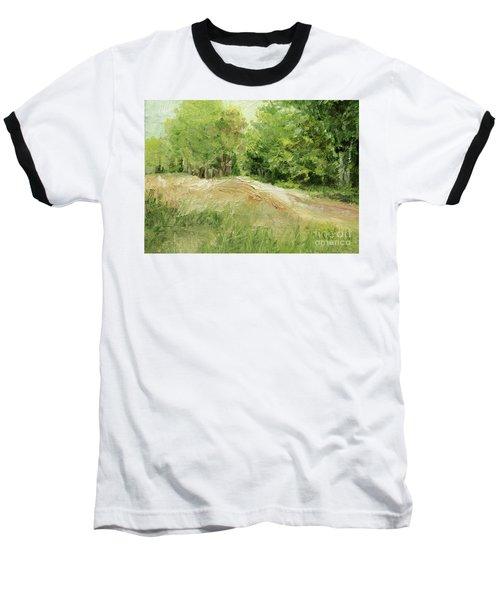 Woodland Trees And Dirt Road Baseball T-Shirt