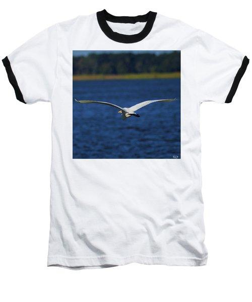 Flight Of The Egret Baseball T-Shirt