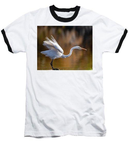 Floofy Egret Baseball T-Shirt