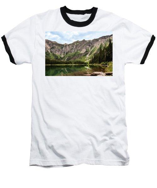 Floral Park Falls Monument Falls Avalanche Basin Falls Across Avalanche Lake Glacier National Park Baseball T-Shirt