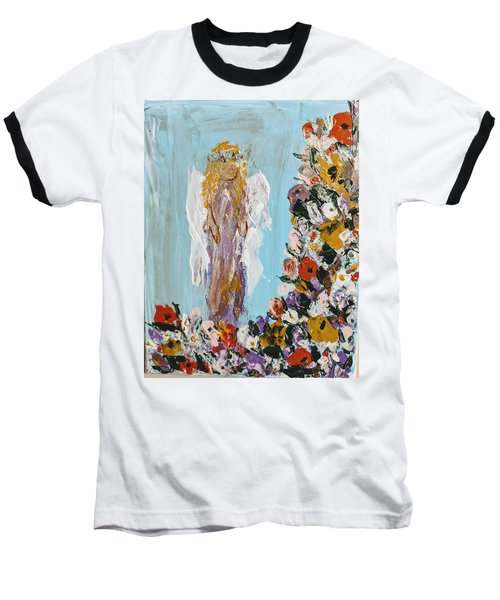 Flower Child Angel Baseball T-Shirt