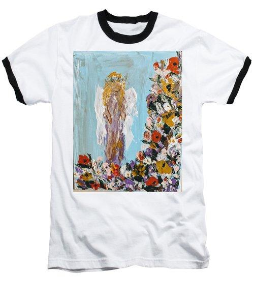 Flower Child Angel Baseball T-Shirt