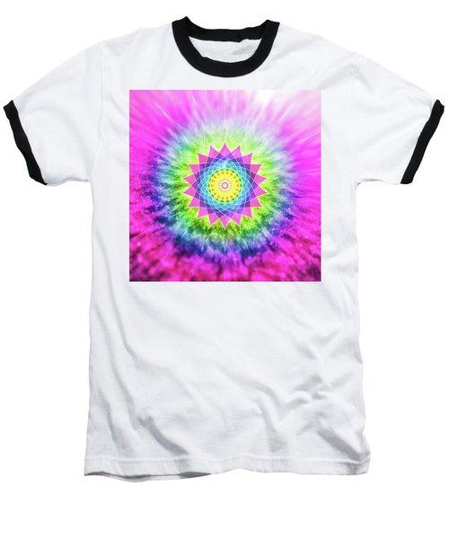 Flowering Mandala Baseball T-Shirt