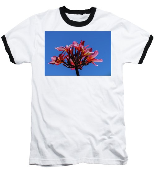 Flowers In Clear Blue Sky Baseball T-Shirt