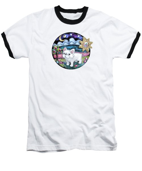 French Bull Dog Puppy Jewelry Art Baseball T-Shirt