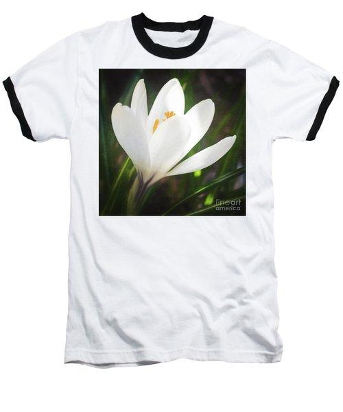 Glowing White Crocus Baseball T-Shirt