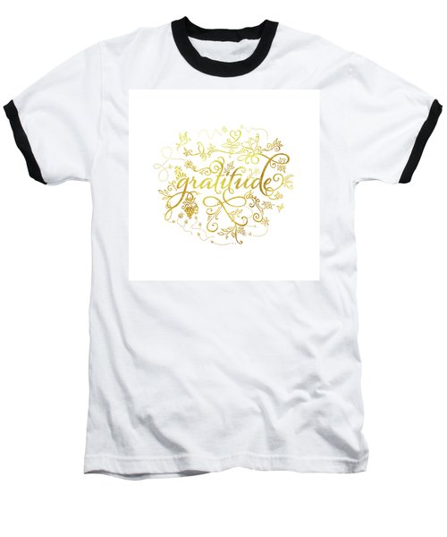 Golden Gratitude Baseball T-Shirt