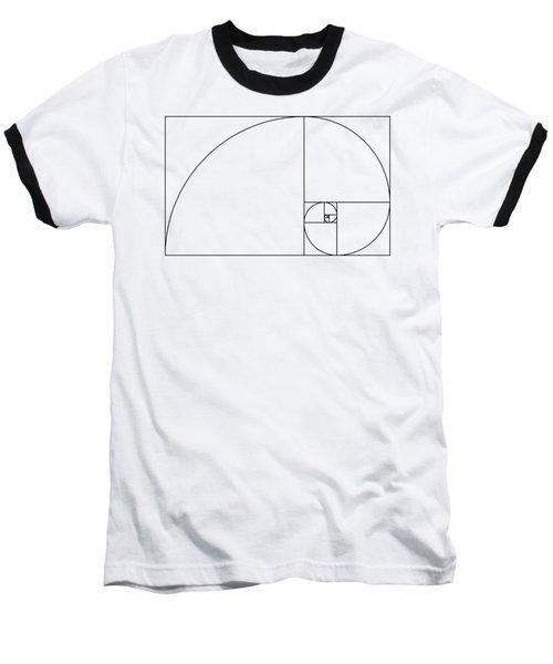 Golden Spiral Baseball T-Shirt