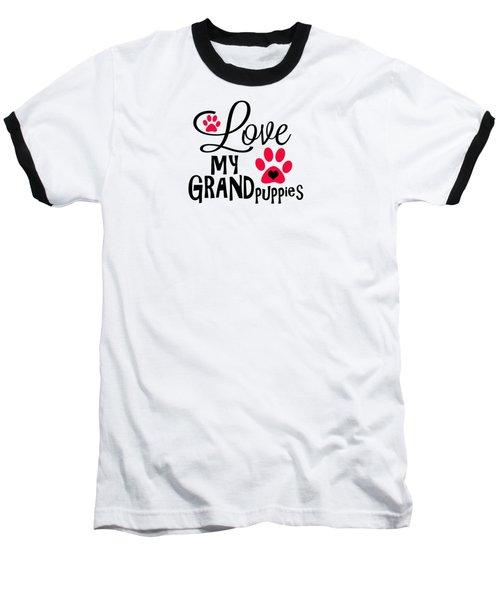 Great Dog Gifts And Ideas Love My Grandpuppies Baseball T-Shirt