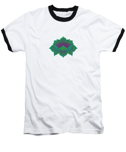 Green Lotus Baseball T-Shirt