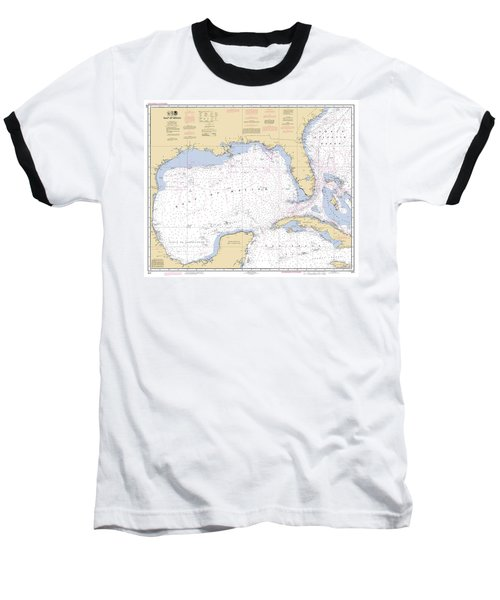 Gulf Of Mexico, Noaa Chart 411 Baseball T-Shirt