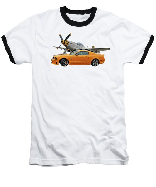 High Flyers - Mustang And P51 Baseball T-Shirt