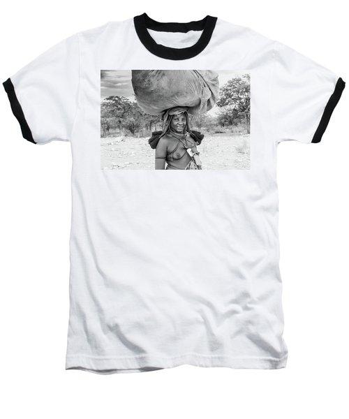 Himba Woman 2 Baseball T-Shirt