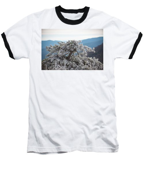 Hoarfrost In The Blue Ridge Mountains Baseball T-Shirt