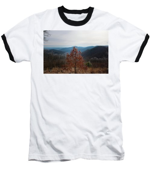 Hoarfrost On Fall Leaves Baseball T-Shirt