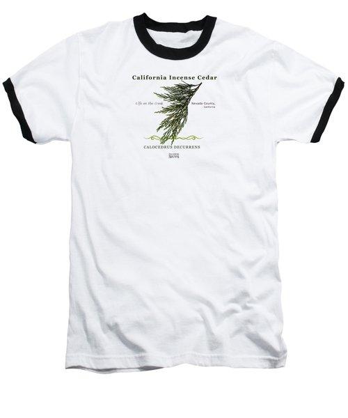 Incense Cedar - Brpwn Text Baseball T-Shirt