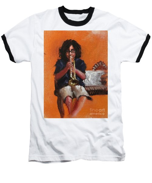 Baseball T-Shirt featuring the painting Innocence  by Nizar MacNojia
