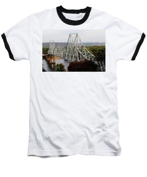 Iowa - Mississippi River Bridge Baseball T-Shirt