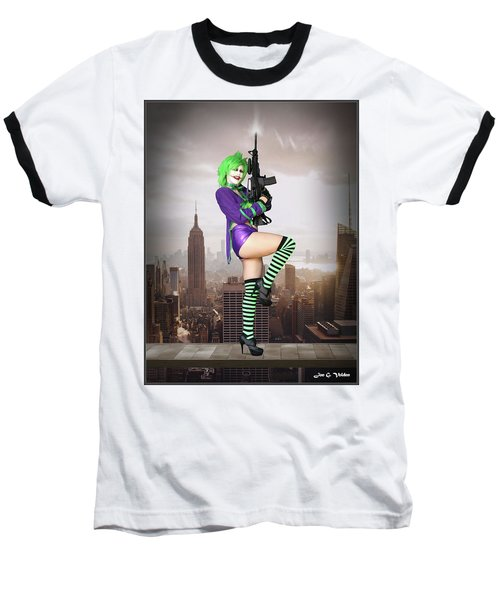 Joker Is Wild Baseball T-Shirt