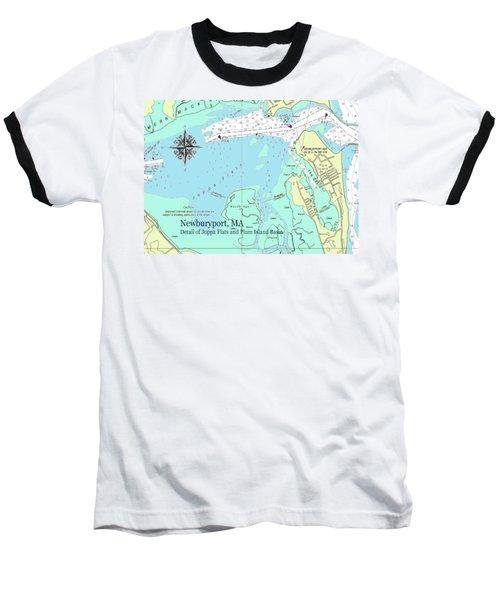 Joppa Flats Map Baseball T-Shirt