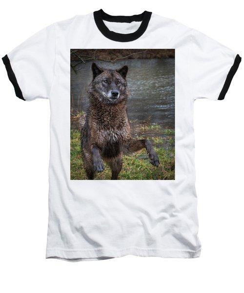 Jumping Boy Baseball T-Shirt