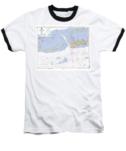 Key West Harbor And Approaches, Noaa Chart 11441 Baseball T-Shirt
