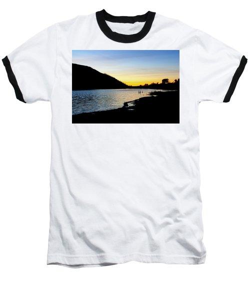 Lake Cuyamaca Sunset Baseball T-Shirt