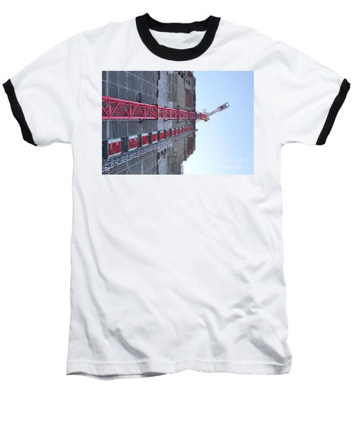 Large Scale Construction Site With Crane Baseball T-Shirt