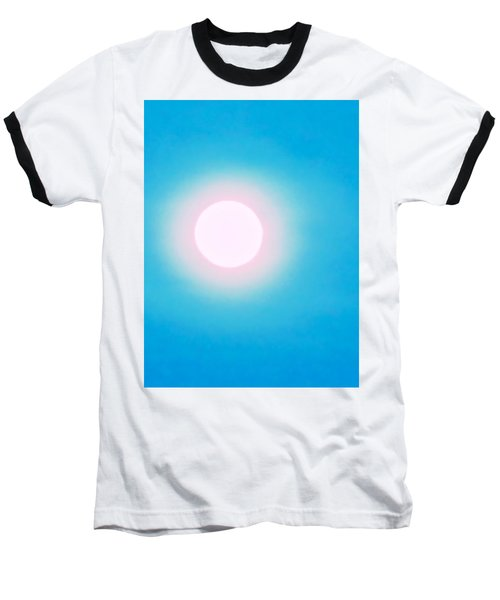 Baseball T-Shirt featuring the photograph Leo Blue Moon In Turquoise by Judy Kennedy