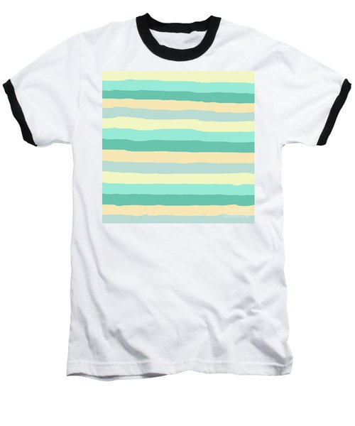 lumpy or bumpy lines abstract and summer colorful - QAB271 Baseball T-Shirt