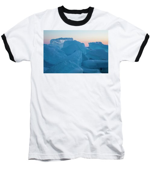 Mackinaw City Ice Formations 2161804 Baseball T-Shirt