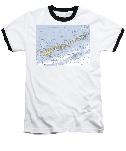 Marathon And Duck Keys Custom Noaa Nautical Chart Baseball T-Shirt