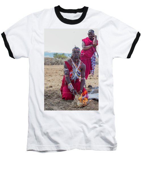 Maasai Warrior Baseball T-Shirt