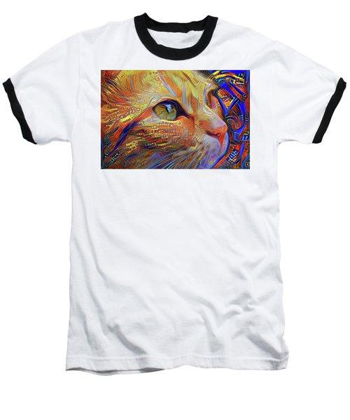 Max The Ginger Cat Baseball T-Shirt