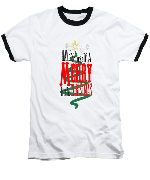 Merry Little Christmas Baseball T-Shirt