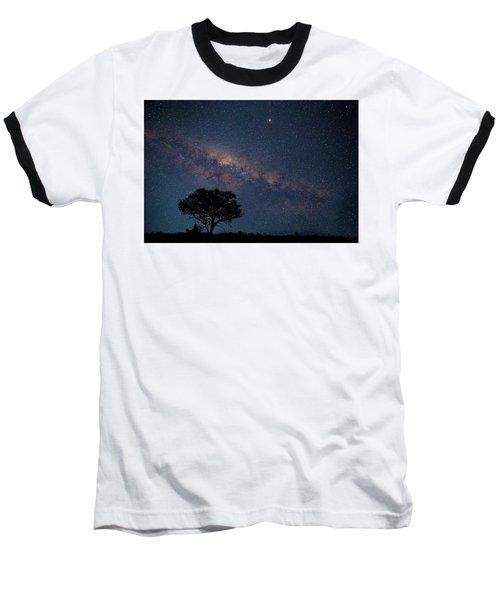 Milky Way Over Africa Baseball T-Shirt