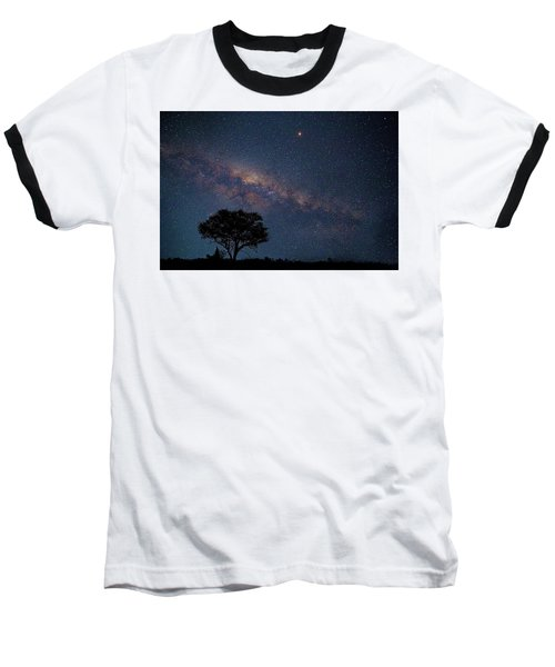 Milky Way Over Africa Baseball T-Shirt